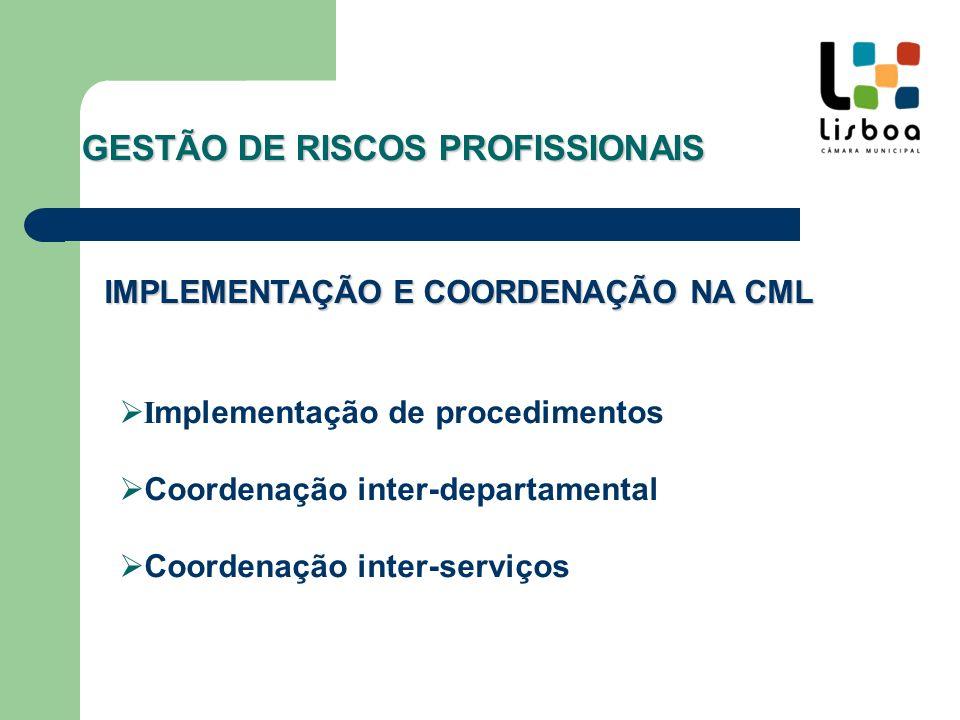 AUDITORIA Avaliação da eficácia do sistema Projecto de melhorias a implementar GESTÃO DE RISCOS PROFISSIONAIS