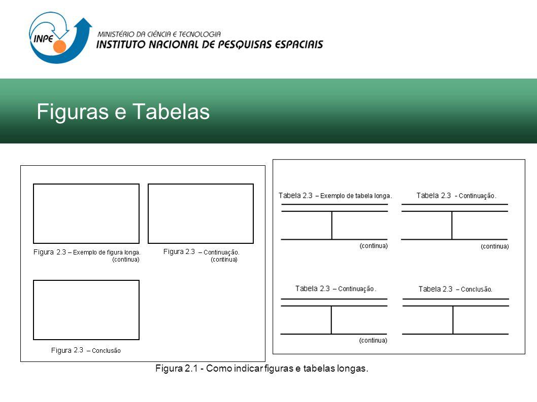 Figura 2.1 - Como indicar figuras e tabelas longas. Figuras e Tabelas