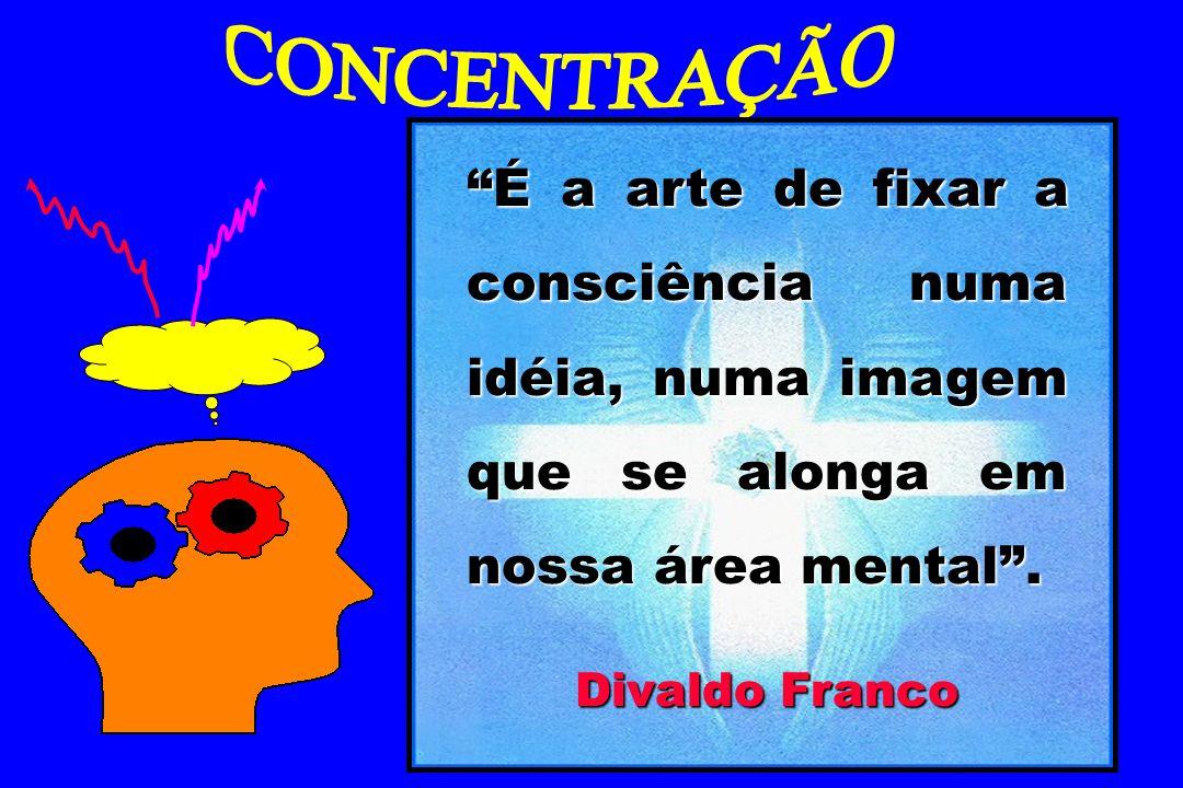 É a arte de fixar a consciência numa idéia, numa imagem que se alonga em nossa área mental. Divaldo Franco
