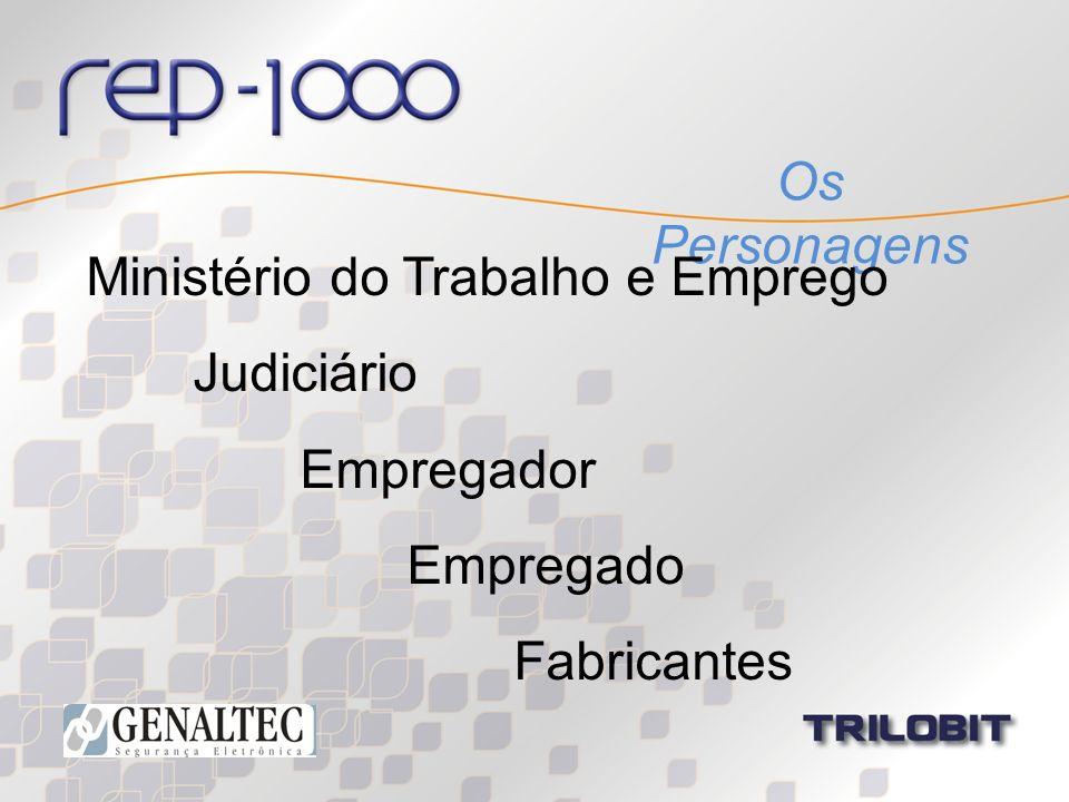 Os Personagens Ministério do Trabalho e Emprego Judiciário Empregador Empregado Fabricantes