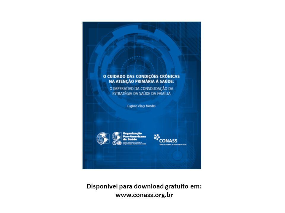 Disponível para download gratuito em: www.conass.org.br