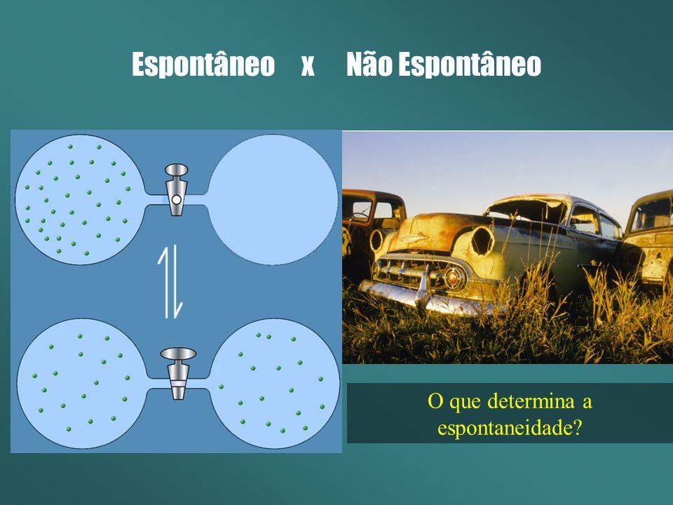 Espontâneo x Não Espontâneo O que determina a espontaneidade?