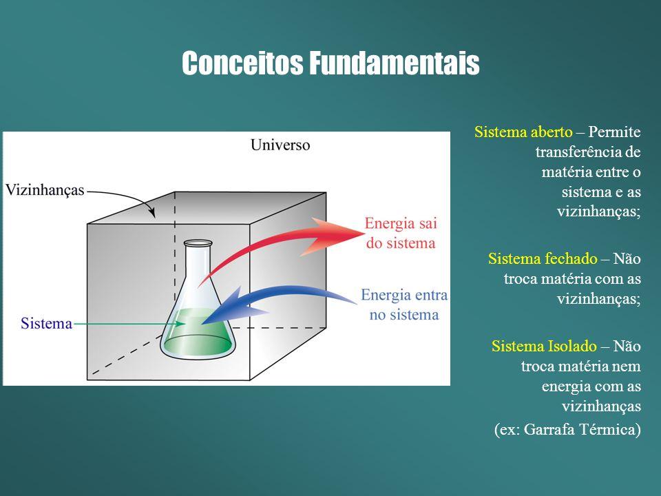 Resumo Primeira Lei – Identifica quais processos são termodinamicamente possíveis de acontecer (aqueles cuja energia se conserva).