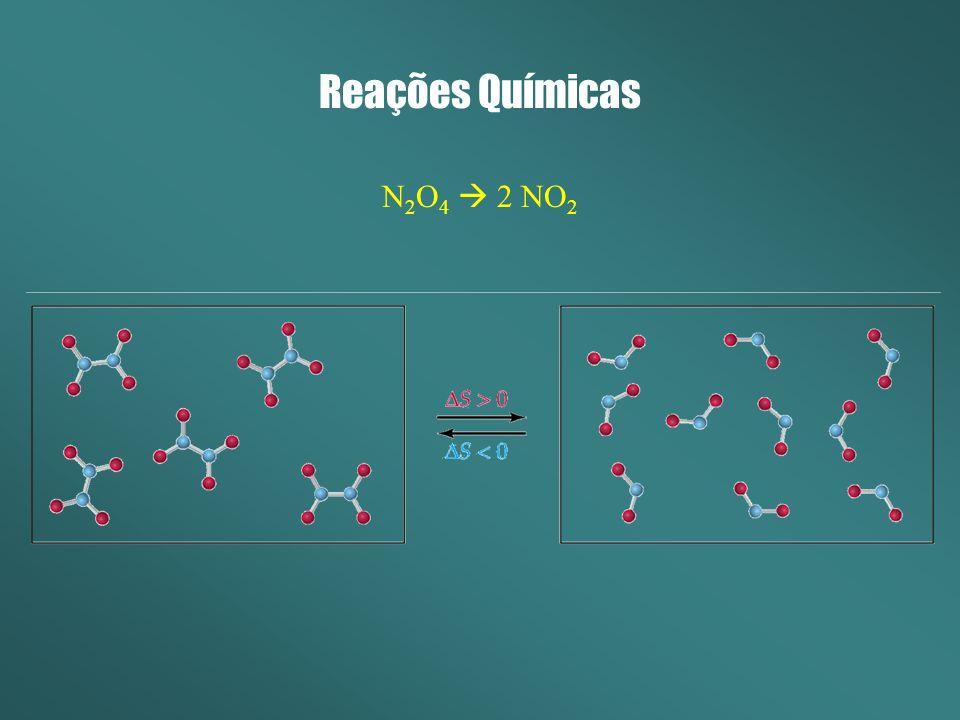 Reações Químicas N 2 O 4 2 NO 2