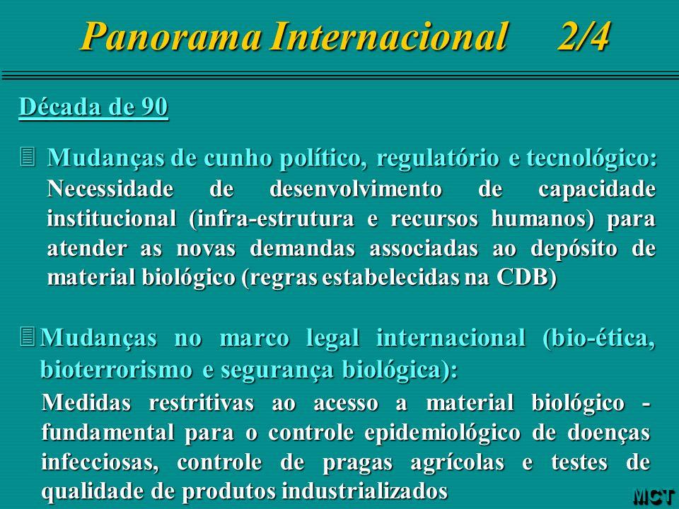 Década de 90 3Mudanças de cunho político, regulatório e tecnológico: Necessidade de desenvolvimento de capacidade institucional (infra-estrutura e rec