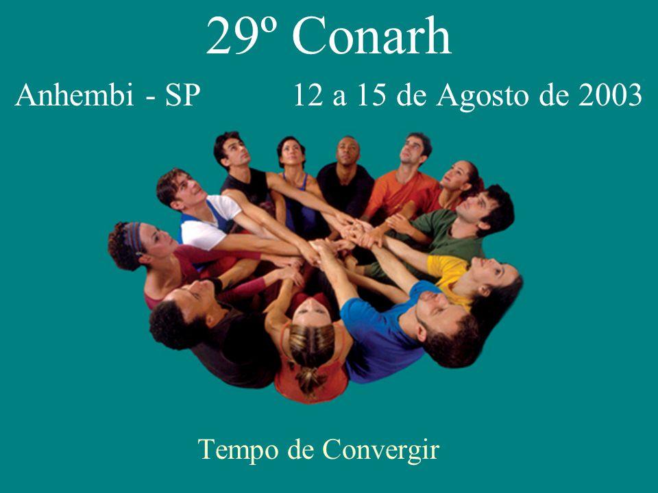 29º Conarh Anhembi - SP 12 a 15 de Agosto de 2003 Tempo de Convergir