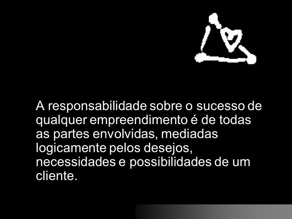 A responsabilidade sobre o sucesso de qualquer empreendimento é de todas as partes envolvidas, mediadas logicamente pelos desejos, necessidades e poss