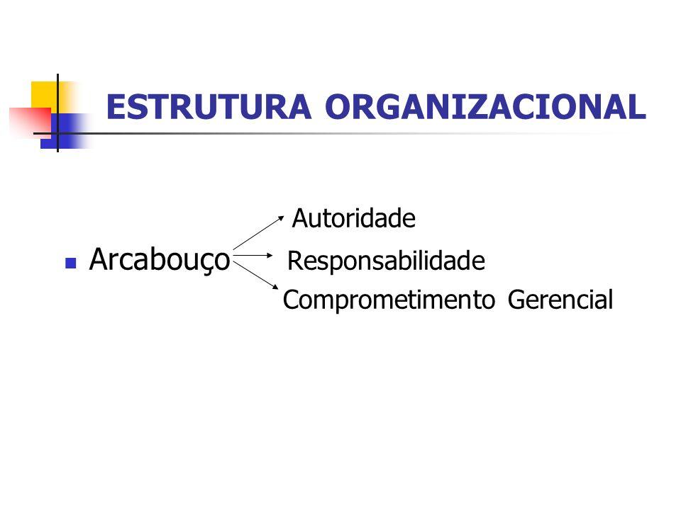 Componentes da Estrutura Organizacional O quadro de uma organização define as relações formais dessa Instituição.