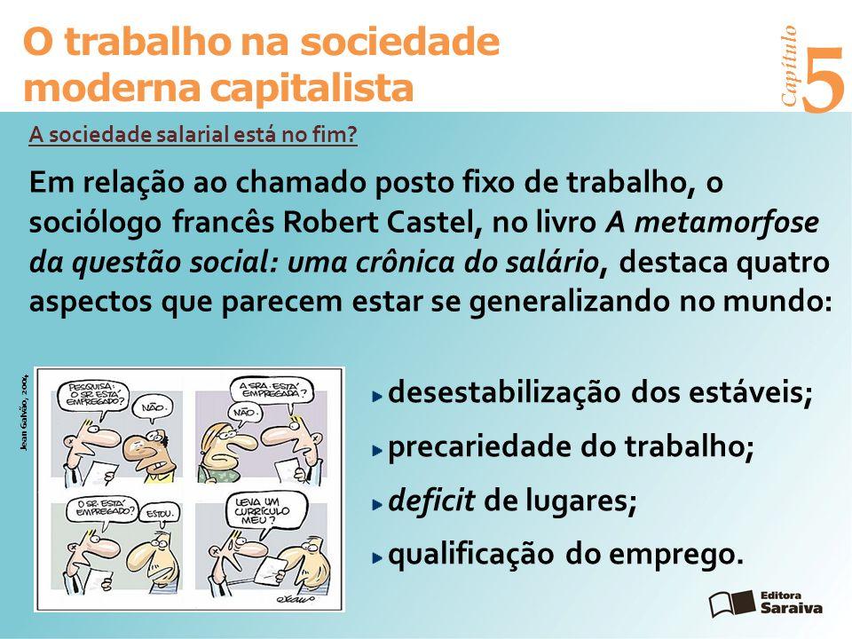 Capítulo 5 O trabalho na sociedade moderna capitalista A sociedade salarial está no fim.