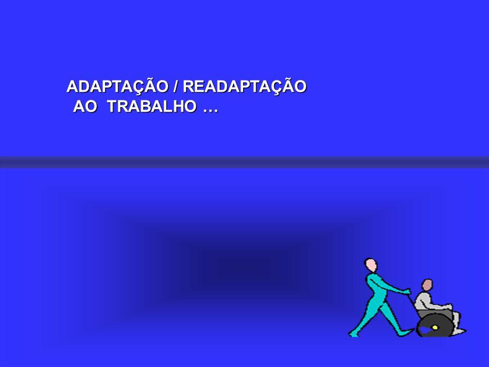 ADAPTAÇÃO / READAPTAÇÃO AO TRABALHO … AO TRABALHO …