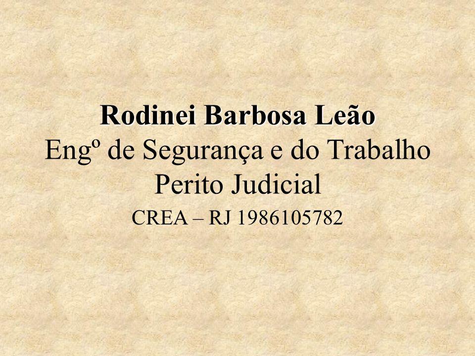 Rodinei Barbosa Leão Rodinei Barbosa Leão Engº de Segurança e do Trabalho Perito Judicial CREA – RJ 1986105782