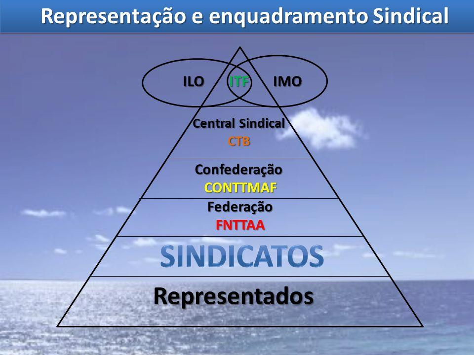 Representados Confederação CONTTMAF CONTTMAF FederaçãoFNTTAA Central Sindical CTB ITFIMOILO Representação e enquadramento Sindical Representação e enq