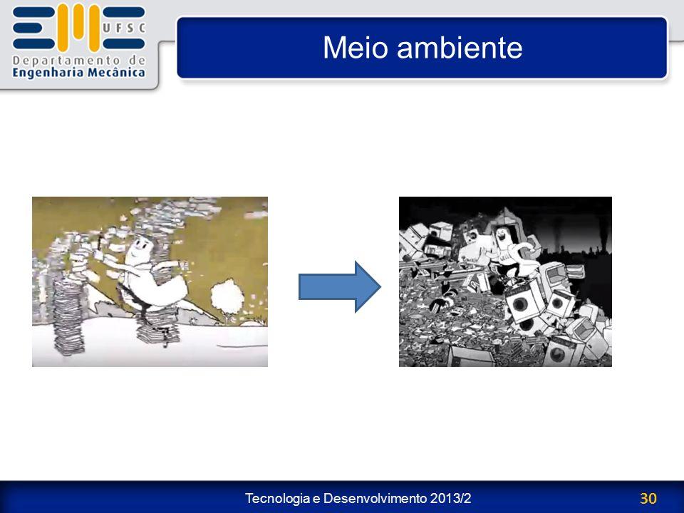 Tecnologia e Desenvolvimento 2013/2 30 Meio ambiente