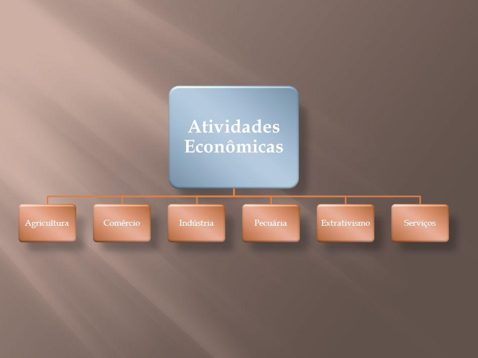 Atividades Econômicas AgriculturaComércioIndústriaPecuáriaExtrativismoServiços
