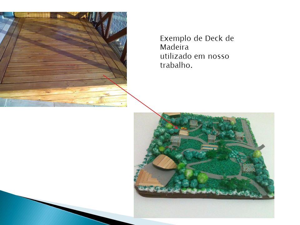 Exemplo de Deck de Madeira utilizado em nosso trabalho.