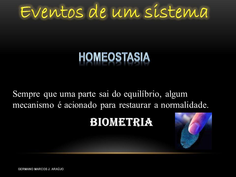 Sempre que uma parte sai do equilíbrio, algum mecanismo é acionado para restaurar a normalidade. Biometria GERMANO MARCOS J. ARAÚJO