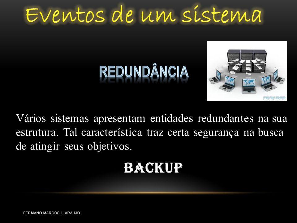 Vários sistemas apresentam entidades redundantes na sua estrutura. Tal característica traz certa segurança na busca de atingir seus objetivos. Backup