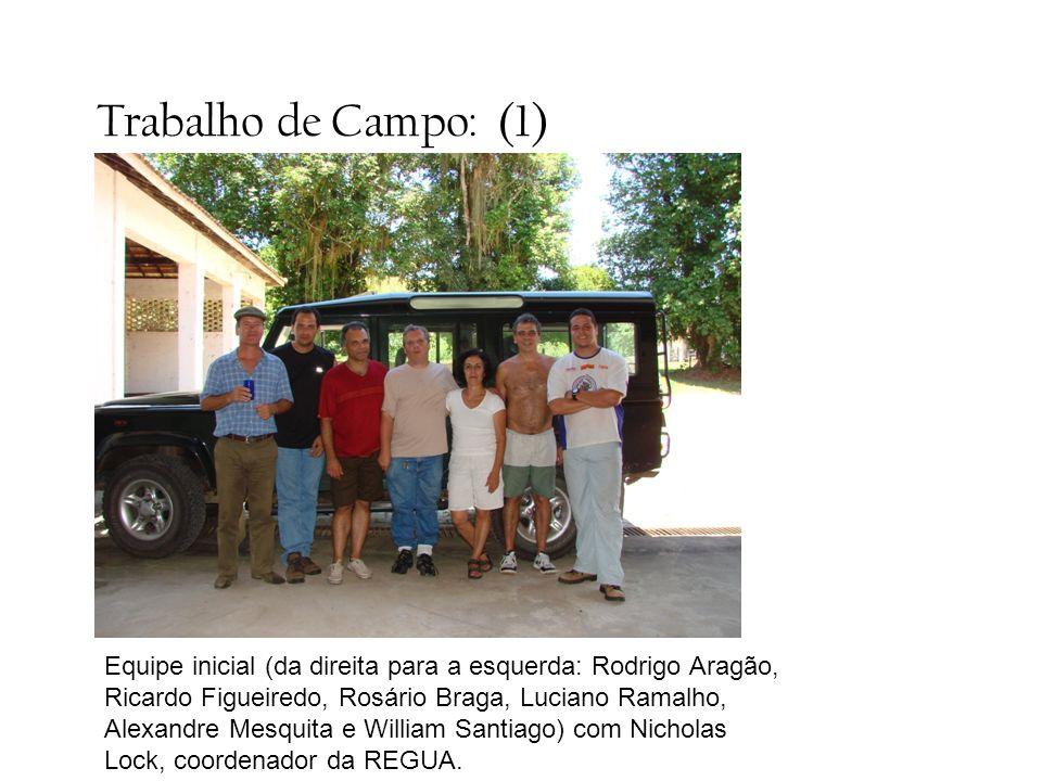 Trabalho de Campo: (1) Equipe inicial (da direita para a esquerda: Rodrigo Aragão, Ricardo Figueiredo, Rosário Braga, Luciano Ramalho, Alexandre Mesqu