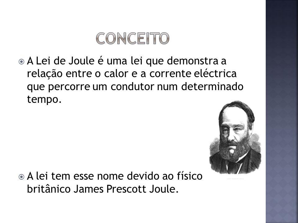A Lei de Joule é uma lei que demonstra a relação entre o calor e a corrente eléctrica que percorre um condutor num determinado tempo. A lei tem esse n