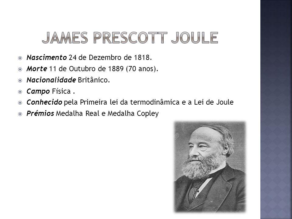 Nascimento 24 de Dezembro de 1818. Morte 11 de Outubro de 1889 (70 anos). Nacionalidade Britânico. Campo Física. Conhecido pela Primeira lei da termod