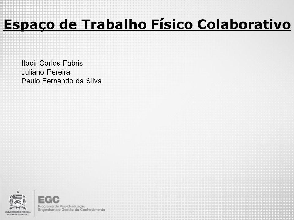 Espaço de Trabalho Físico Colaborativo Itacir Carlos Fabris Juliano Pereira Paulo Fernando da Silva