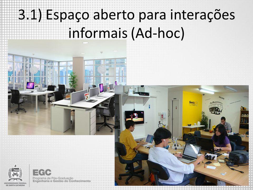 3.1) Espaço aberto para interações informais (Ad-hoc)