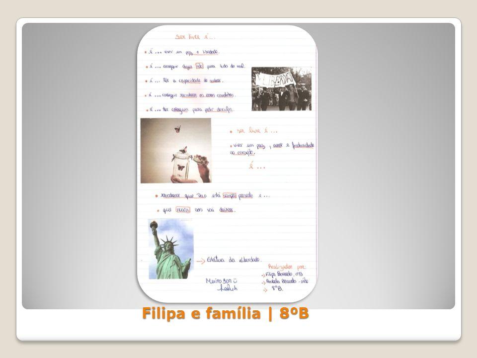 Filipa e família | 8ºB