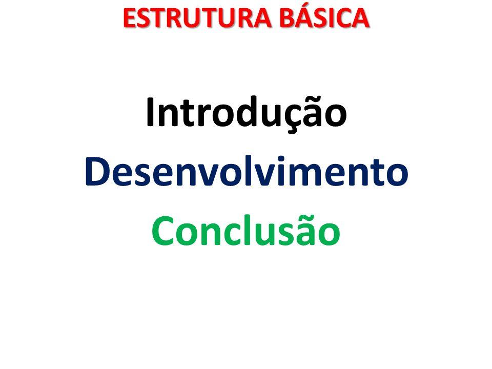 ESTRUTURA BÁSICA Introdução Desenvolvimento Conclusão