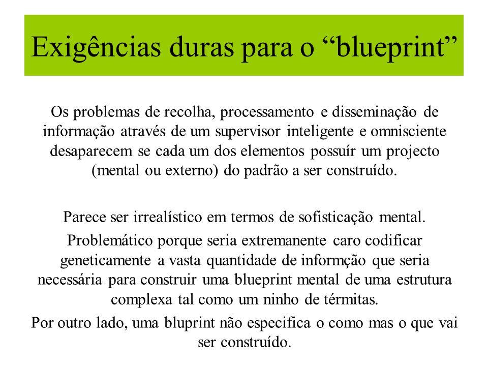 Exigências duras para o blueprint Os problemas de recolha, processamento e disseminação de informação através de um supervisor inteligente e omniscien