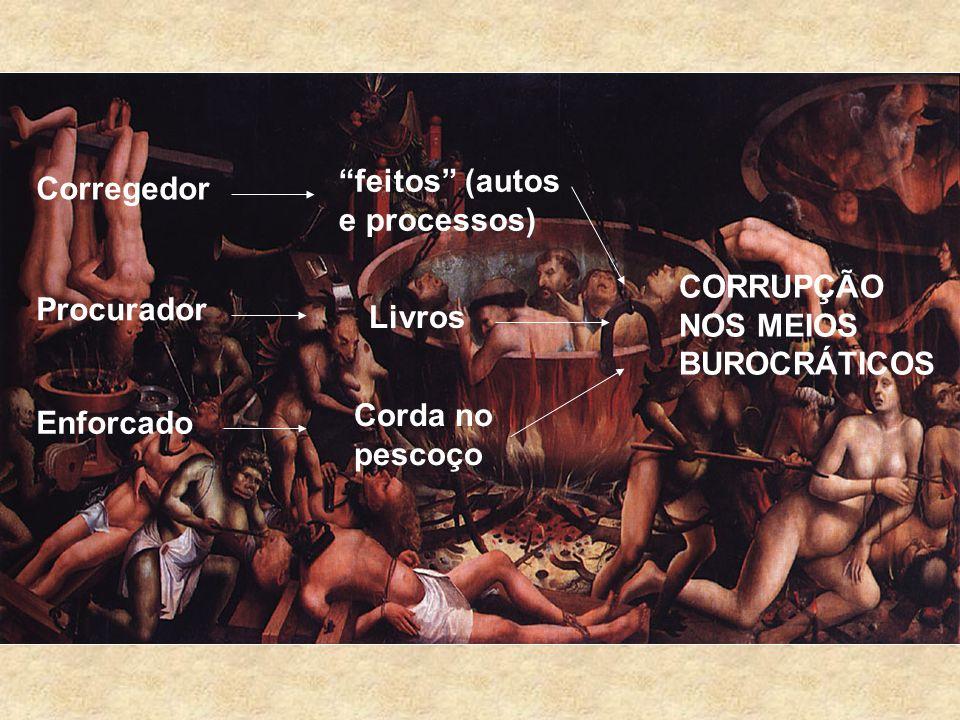 Corregedor feitos (autos e processos) Procurador Livros Enforcado Corda no pescoço CORRUPÇÃO NOS MEIOS BUROCRÁTICOS