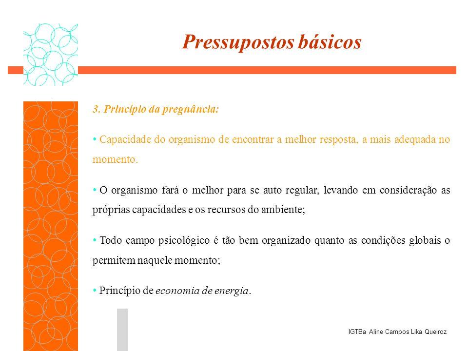 3. Princípio da pregnância: Capacidade do organismo de encontrar a melhor resposta, a mais adequada no momento. O organismo fará o melhor para se auto
