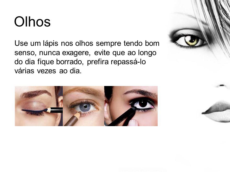 Olhos Prefira usar as sombras claras ou cores frias (tons de marrom, verde esfumados, pastel e beges).o segredo das sombras e a fusão.