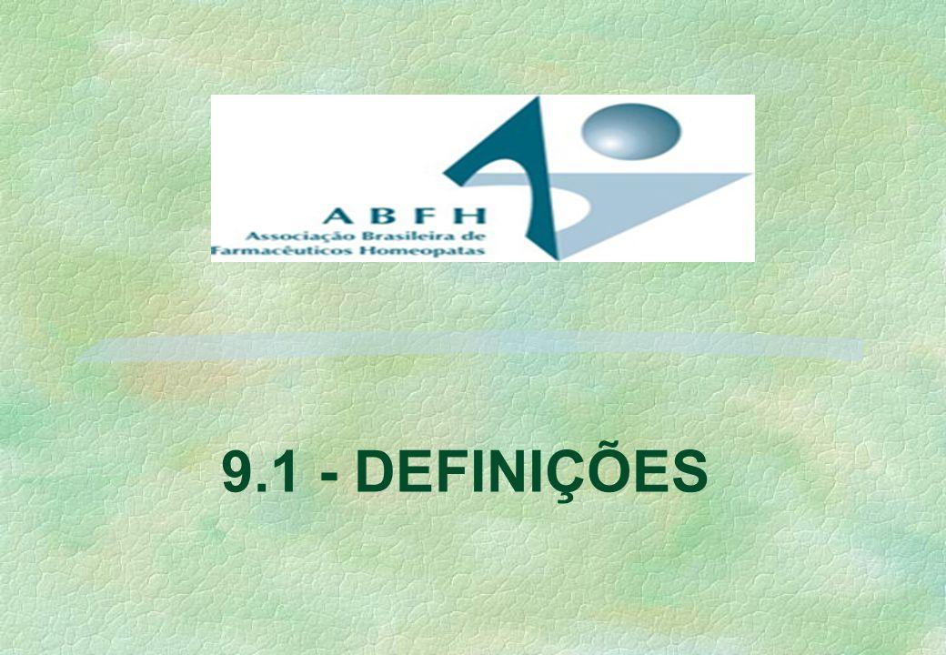 9.1 - DEFINIÇÕES