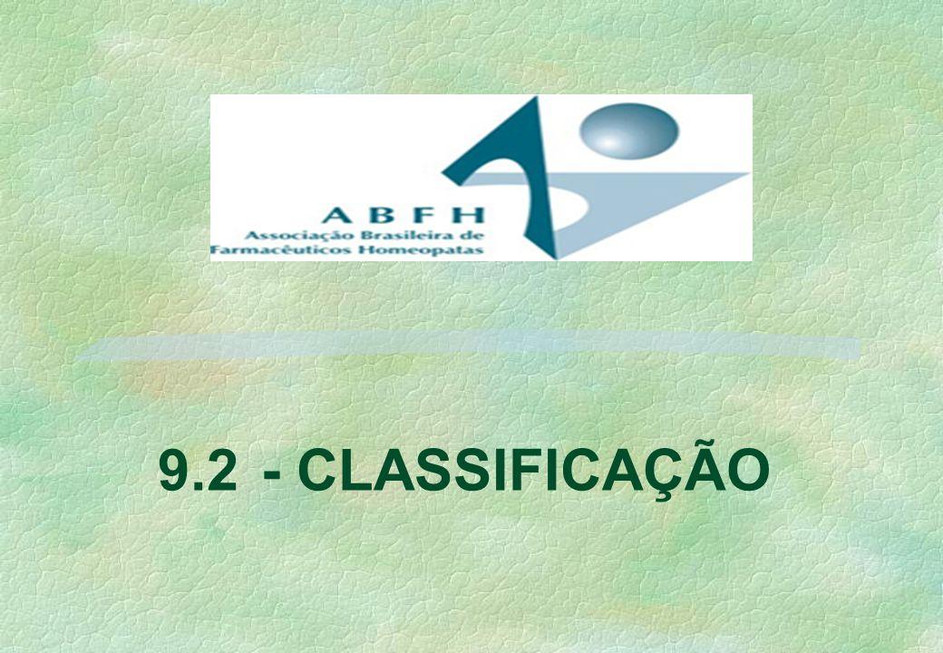 9.2 - CLASSIFICAÇÃO