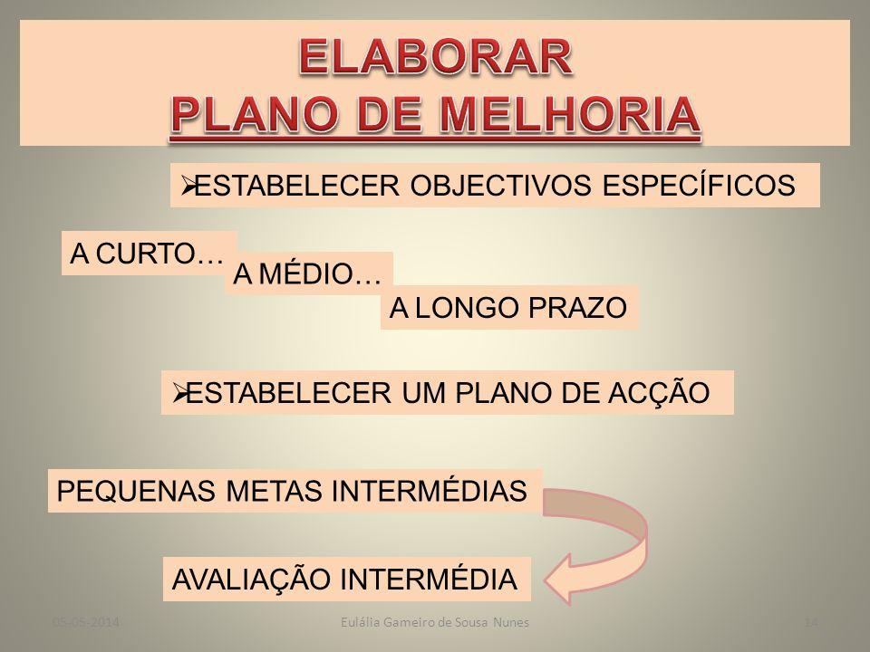 PONTOS FRACOSAMEAÇAS OPORTUNIDADES Eulália Gameiro de Sousa Nunes05-05-201413 PONTOS FORTES