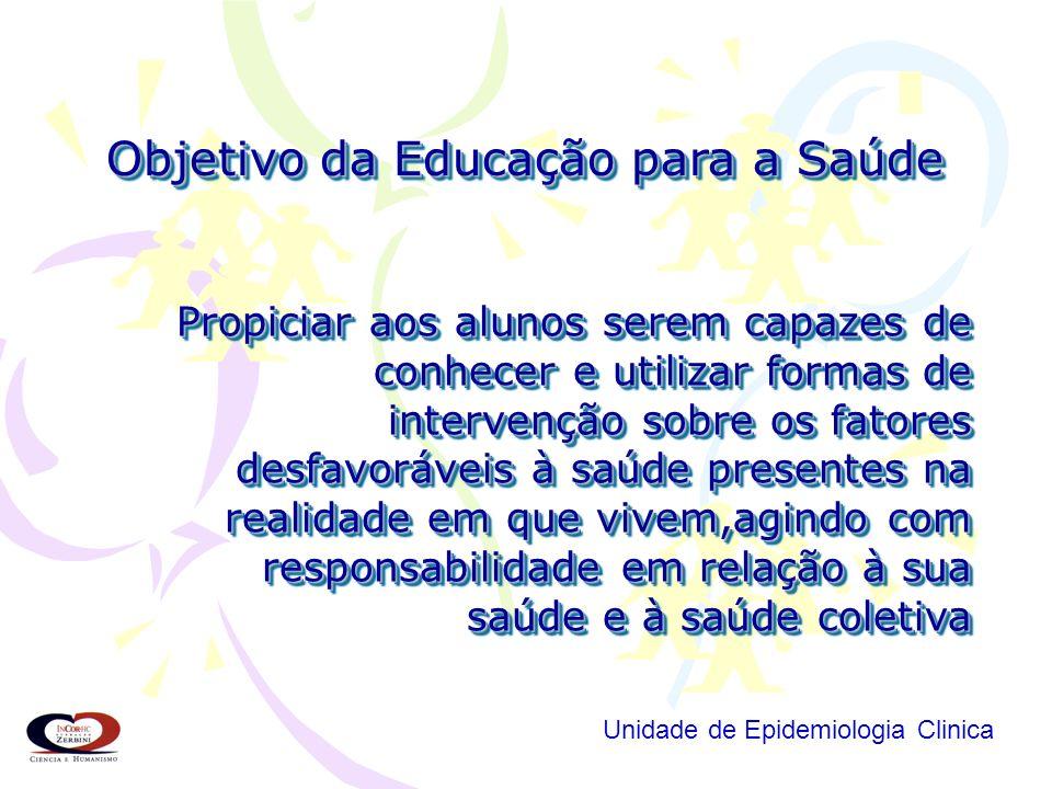É propiciar aos alunos serem capazes de compreender que a saúde é produzida nas relações com o meio físico, econômico e sociocultural, identificando f