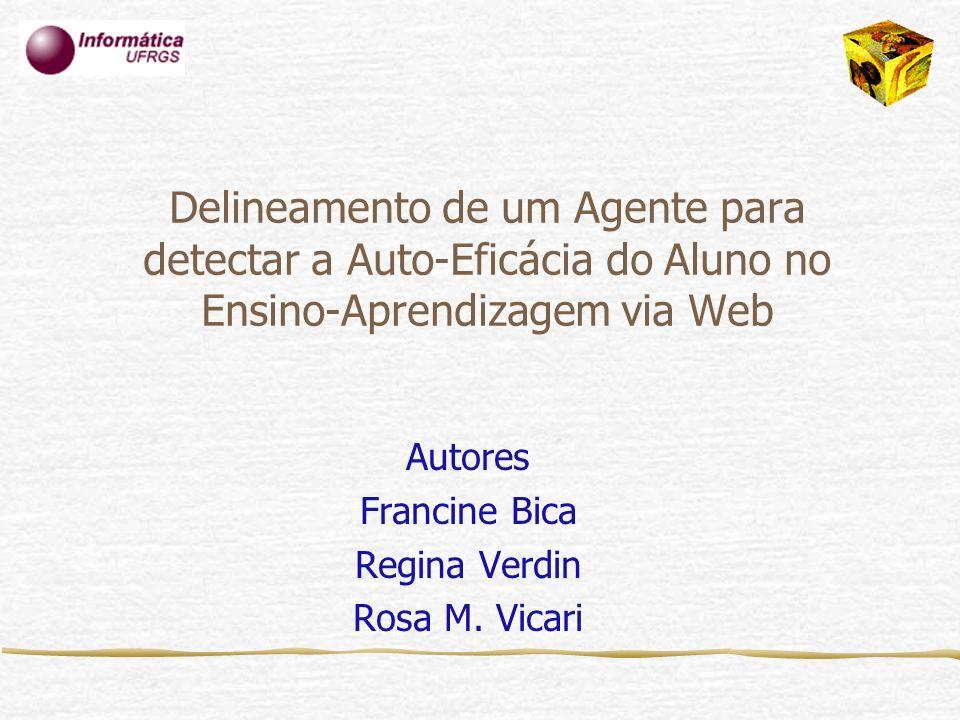 Delineamento de um Agente para detectar a Auto-Eficácia do Aluno no Ensino-Aprendizagem via Web Autores Francine Bica Regina Verdin Rosa M. Vicari