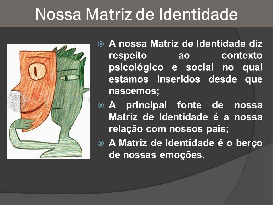 Nossa Matriz de Identidade A nossa Matriz de Identidade diz respeito ao contexto psicológico e social no qual estamos inseridos desde que nascemos; A