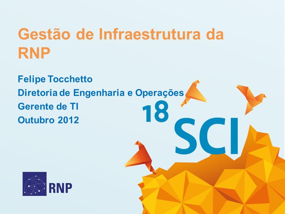 Gestão de Infraestrutura da RNP Felipe Tocchetto Diretoria de Engenharia e Operações Gerente de TI Outubro 2012