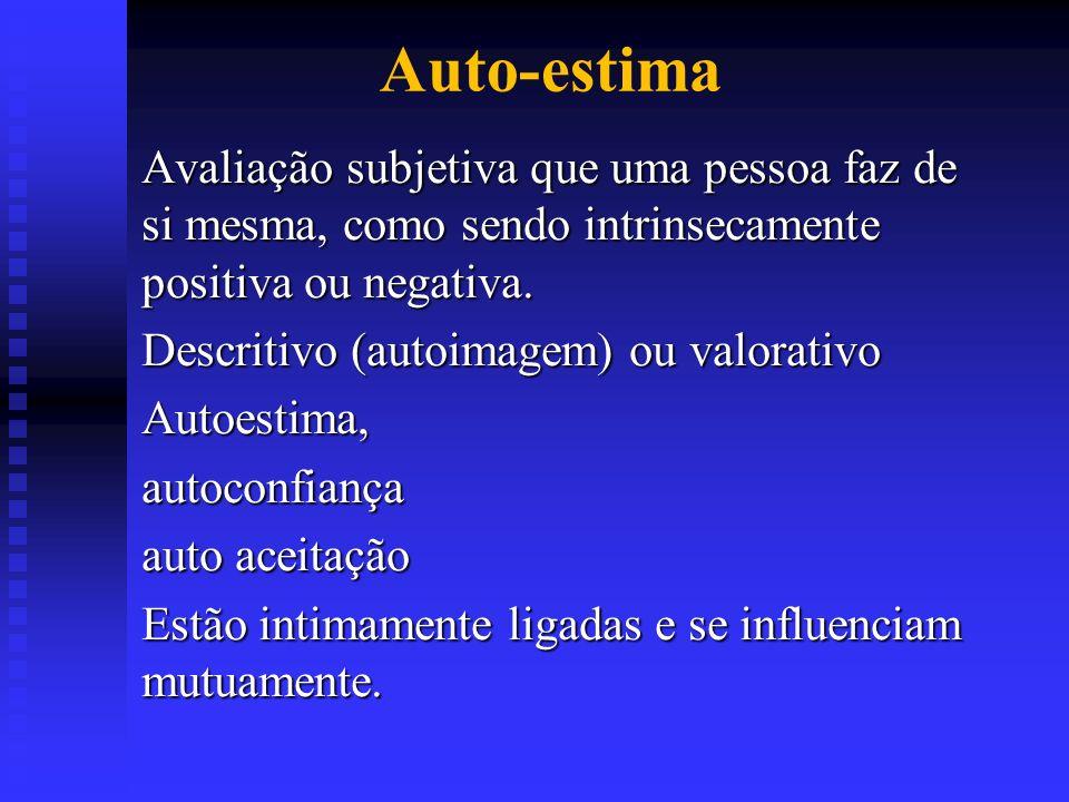 AUTO-ESTIMA É A OPINIÃO E O SENTIMENTO QUE CADA PESSOA TEM DE SIM MESMO.