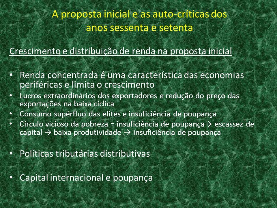 Crescimento e distribuição de renda na proposta de Transformação Produtiva com Equidade O que promove a equidade.
