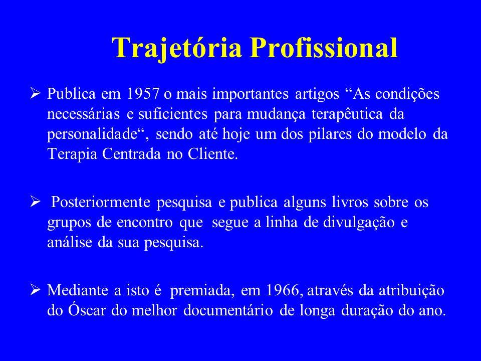 Publica em 1957 o mais importantes artigos As condições necessárias e suficientes para mudança terapêutica da personalidade, sendo até hoje um dos pil