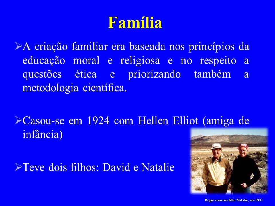 A criação familiar era baseada nos princípios da educação moral e religiosa e no respeito a questões ética e priorizando também a metodologia científi