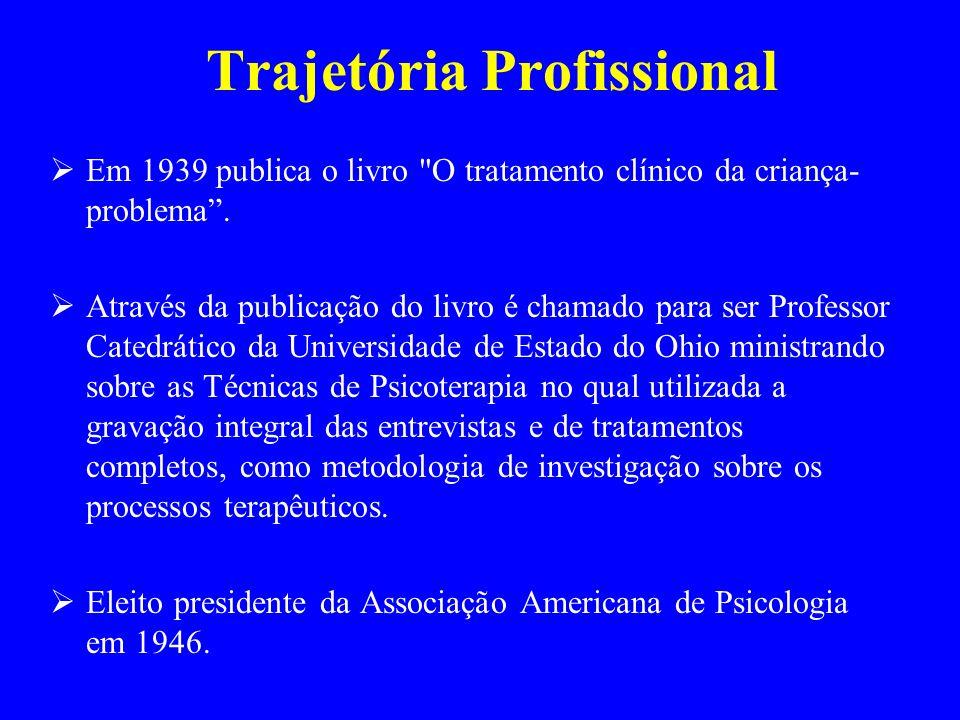 Publica em 1957 o mais importantes artigos As condições necessárias e suficientes para mudança terapêutica da personalidade, sendo até hoje um dos pilares do modelo da Terapia Centrada no Cliente.