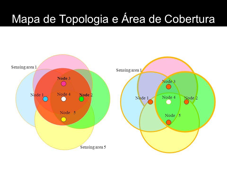 Mapa de Topologia e Área de Cobertura Node 2 1 3 4 5 Sensing area 1 Sensing area 5 Node 2 1 3 4 5 Sensing area 1