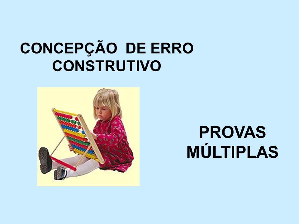 CONCEPÇÃO DE ERRO CONSTRUTIVO PROVAS MÚLTIPLAS