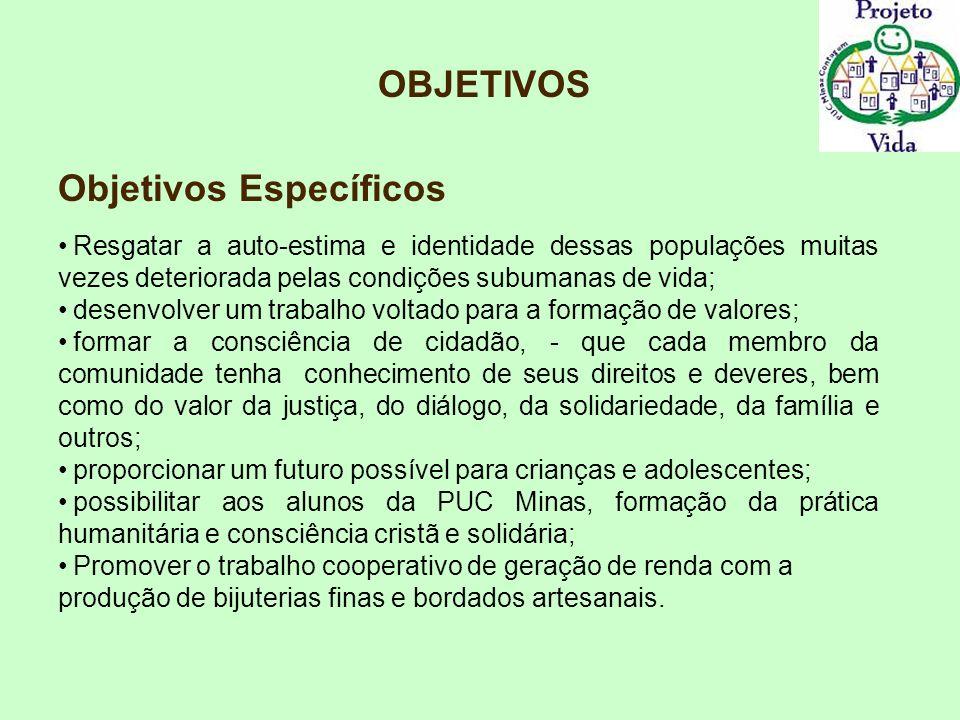 Público Alvo O público alvo das ações do projeto se caracteriza pela situação sócio-econômica de extrema precariedade, e de uma condição de risco social iminente.