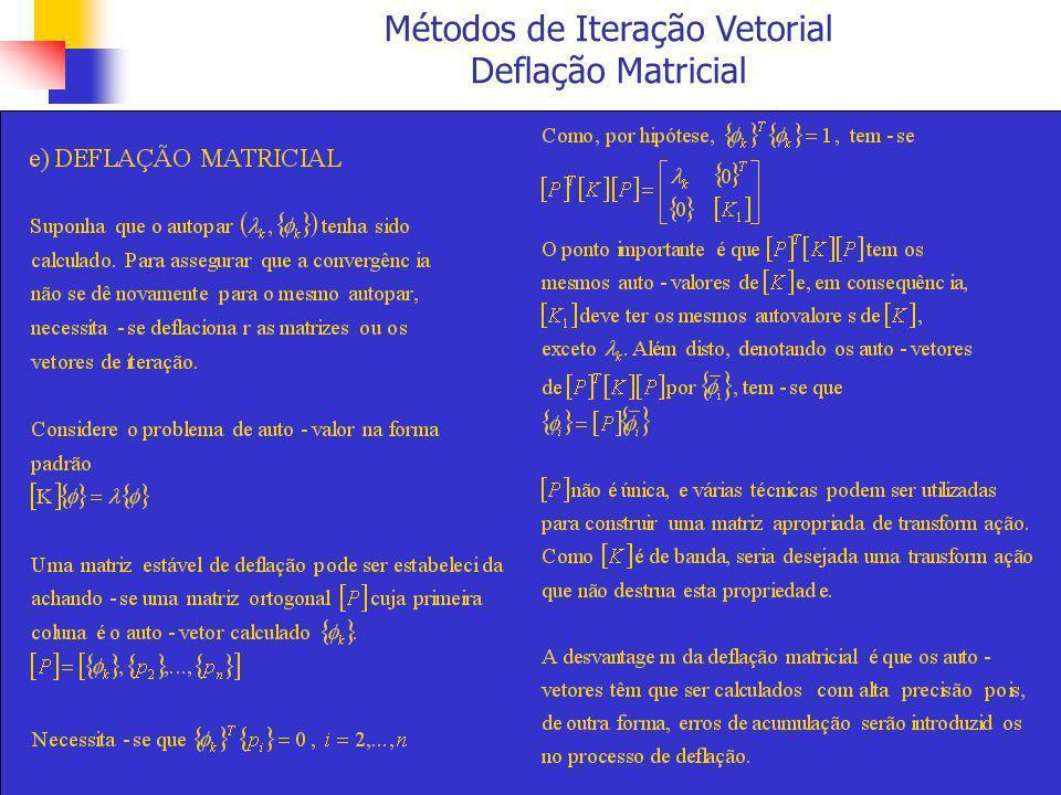 Métodos de Iteração Vetorial Deflação Matricial