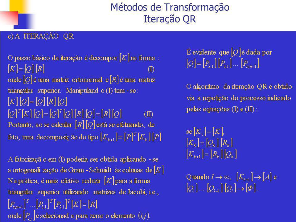 Métodos de Transformação Iteração QR