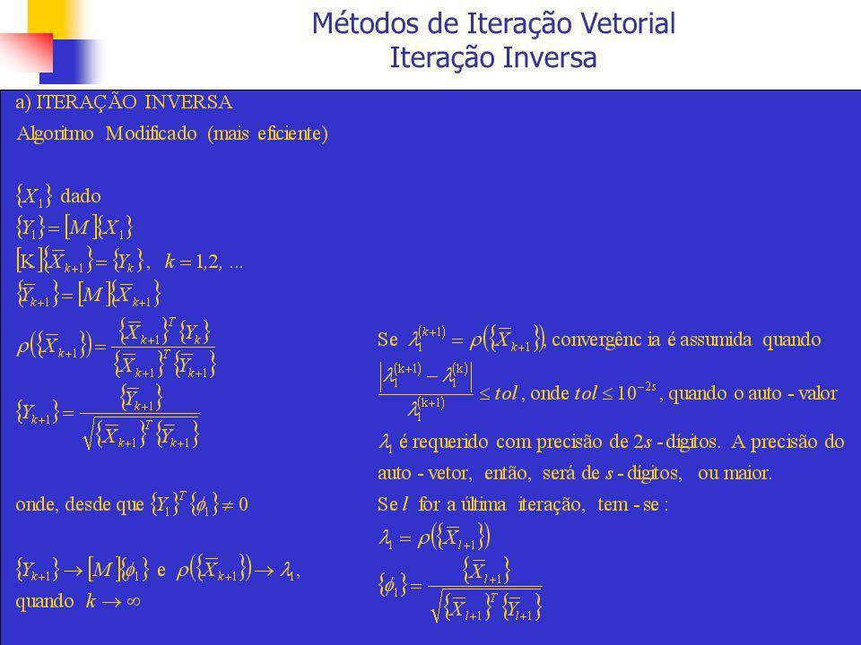 Métodos de Transformação A Redução de Householder plano de reflexão a {w} {v} {w} [P] {v}